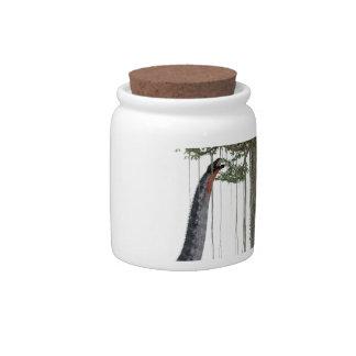 Apatosurus Dinosaur feeding on a Tree Candy Jar