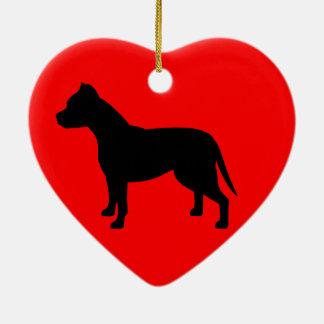APBT Heart Ornament Silhouette