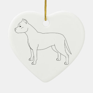 APBT Ornament Heart Double Sided