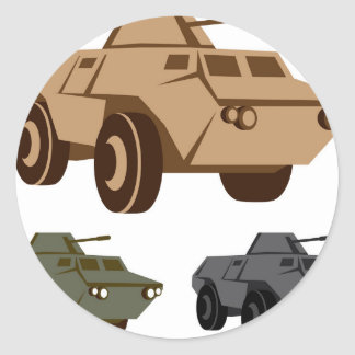 APC armored personnel carrier Classic Round Sticker