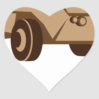 APC armored personnel carrier Heart Sticker