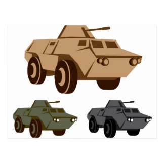 APC armored personnel carrier Postcard