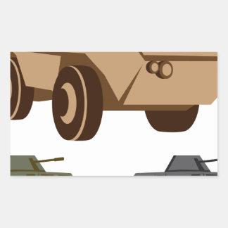 APC armored personnel carrier Rectangular Sticker