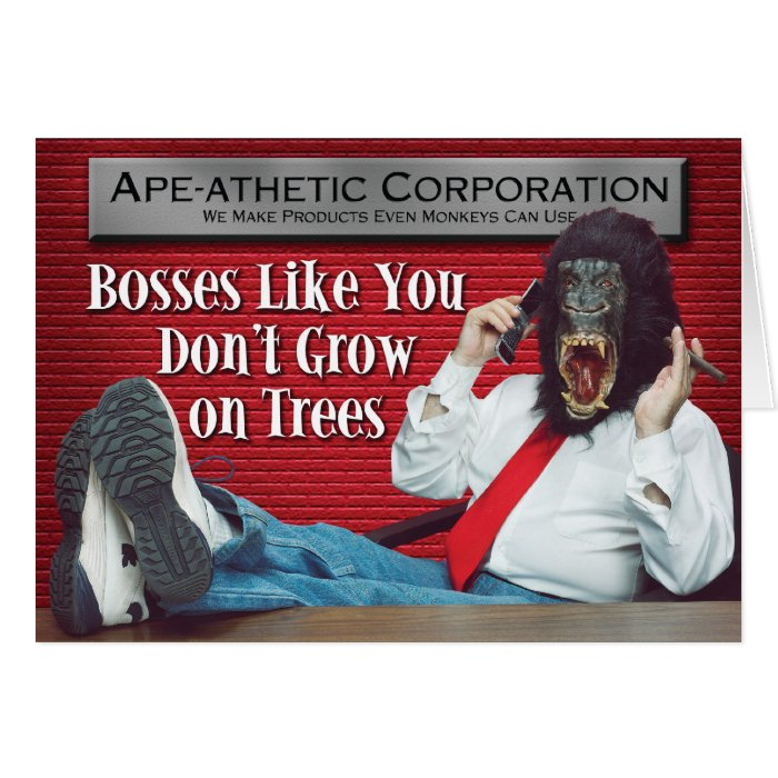 Ape-athetic Bad Boss Card