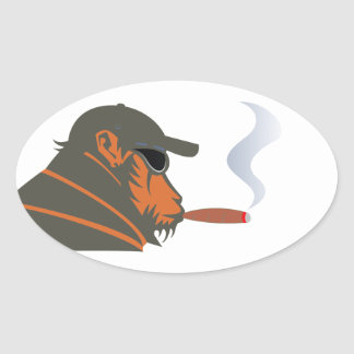 Ape cigar ape cigar oval sticker