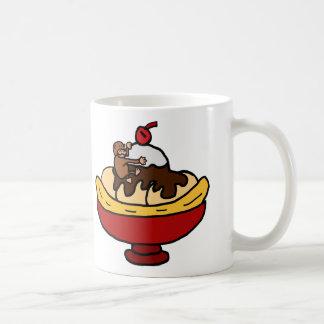 Ape Climbing Banana Split Dessert Coffee Mug