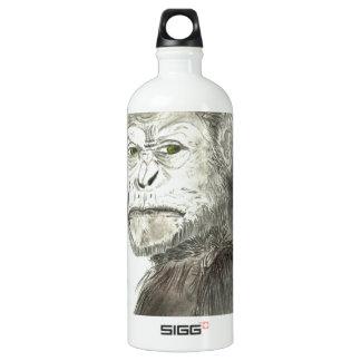 Ape Drawing Design Aluminum Water Bottle