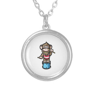 Ape Drum Silver Plated Necklace