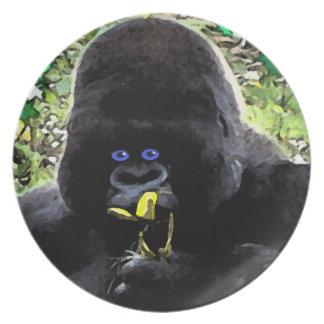 Ape face design dinner plate