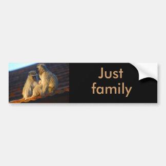 Ape family moments photo bumper sticker