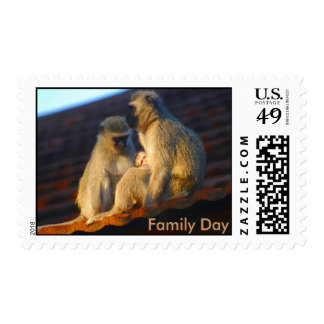 Ape family moments photo postage