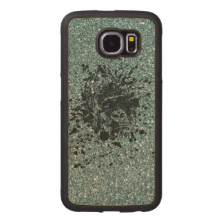 Ape Glitter Wood Phone Case