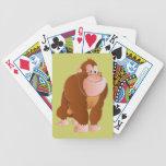Ape gorilla ape playing cards