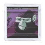 Ape Graffiti Silver Finish Lapel Pin
