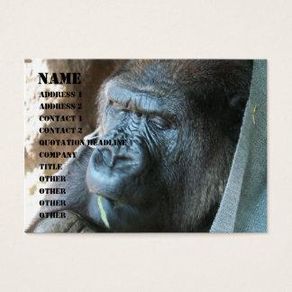 Ape hood ~ Japanese Gorilla Eating Business Card