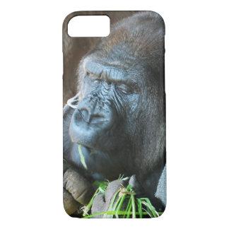 Ape hood ~ Japanese Gorilla Eating iPhone 7 Case