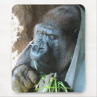 Ape hood ~ Japanese Gorilla Eating Mouse Pad