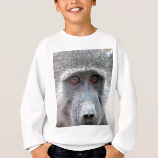 Ape looking into ones eyes close up sweatshirt