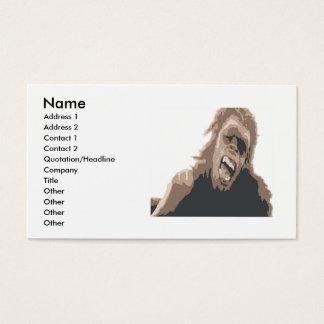 APE MAN, Name, Address 1, Address 2, Contact 1... Business Card