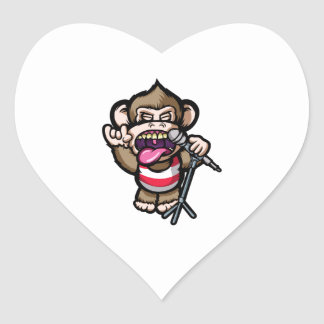 Ape Mic Heart Sticker
