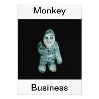 Ape Monkey Business Invitation Personalized Invitation