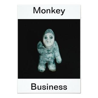 Ape Monkey Business Invitation