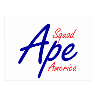 Ape Squad America Postcard