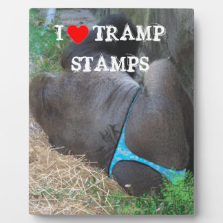 APE WITH TRAMP STAMP AND THONG PHOTO PLAQUE