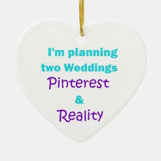 Apego de Pinterest Adorno Navideño De Cerámica En Forma De Corazón