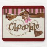 apego del chocolate alfombrillas de ratón