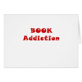 Apego del libro tarjeta de felicitación