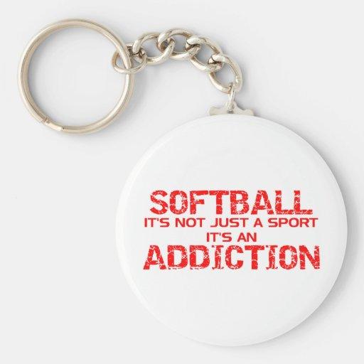 Apego del softball llaveros personalizados