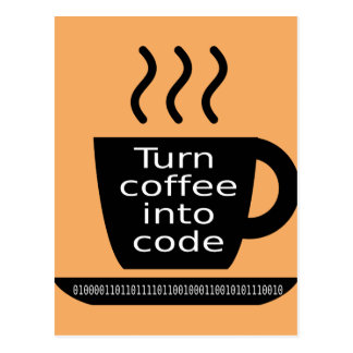 Apego fresco del café del friki del programador tarjetas postales