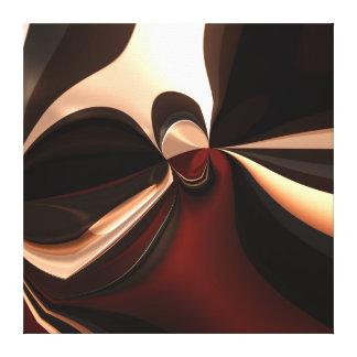 Apego marrón del arte abstracto de la lona lienzo envuelto para galerías