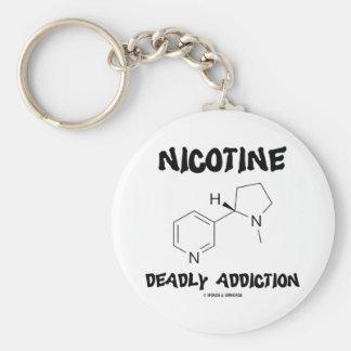 Apego mortal de la nicotina (molécula química) llavero personalizado