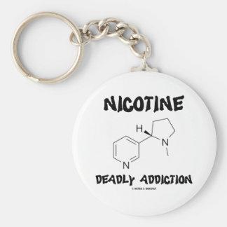 Apego mortal de la nicotina (molécula química) llaveros personalizados