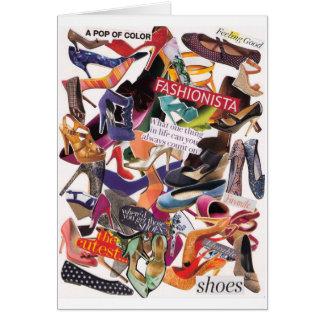 Apego Notecard del zapato Tarjeton
