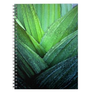 Apego verde cuaderno