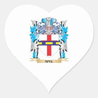 Apel Coat Of Arms Heart Sticker