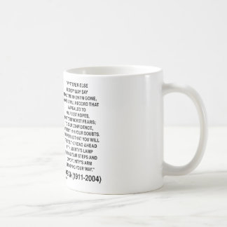 Apelado a sus mejores esperanzas no sus miedos peo taza de café