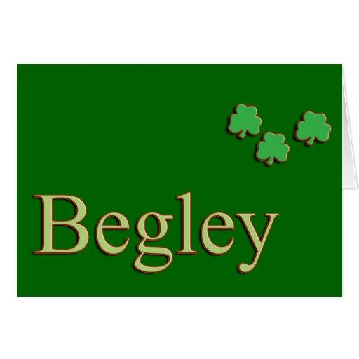 Apellido de Begley Tarjeta De Felicitación