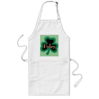 Apellido de Foley Delantal Largo