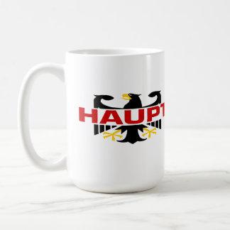 Apellido de Haupt Taza Básica Blanca