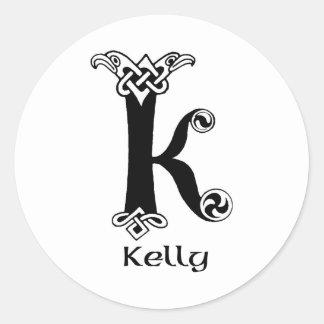Apellido de Kelly Etiquetas Redondas
