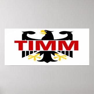 Apellido de Timm Poster