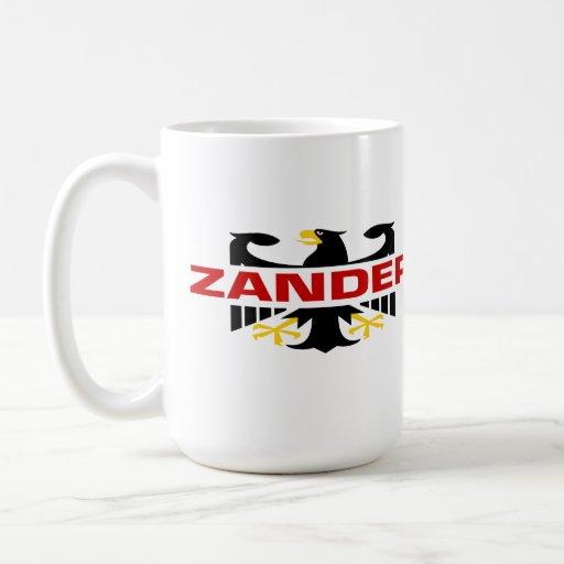Apellido de Zander Taza Básica Blanca