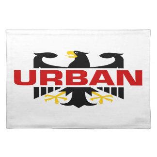 Apellido urbano mantel individual
