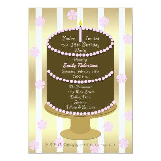 Apelmace la 35ta invitación de la fiesta de invitación 12,7 x 17,8 cm