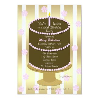 Apelmace la 90.a invitación de la fiesta de invitación 12,7 x 17,8 cm