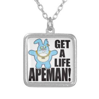 Apeman Bad Bun Life Silver Plated Necklace